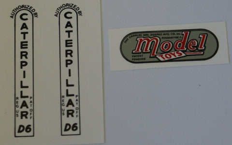 Doepke Models D-6 Caterpillar Decal set