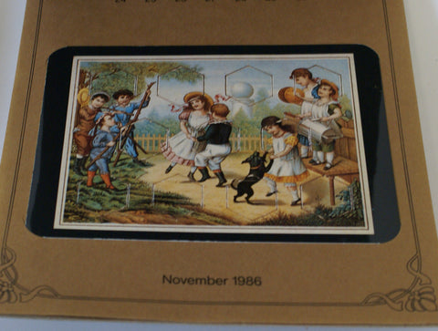 Antique Toy Postcards, set in a calendar.  Nice reference piece.