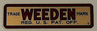 Weeden steam engine decal
