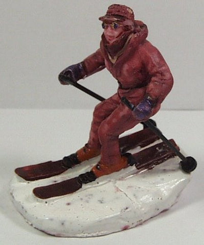 Downhill skiier 2 in. train figure :