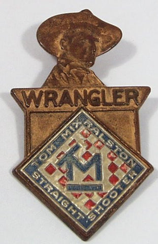 1938 Tom Mix Wrangler Brass Badge Premium