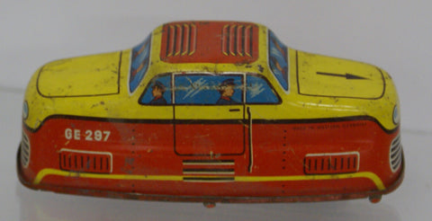 "Tram Car tinplate : Parts only not working.  Original 4"" x 1.5"
