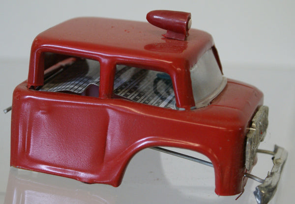 Tin toy Front cab. Original parts piece only. 4""
