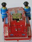 Tinplate fire engine toy part.  Good for parts only.