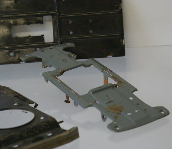 Lot of 3 car chassis for tin toy vintage cars.