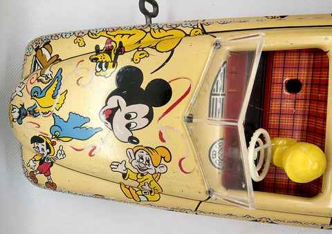 "Marx Disney Parade Car replacement windshield 3"" x 1-1/4"""