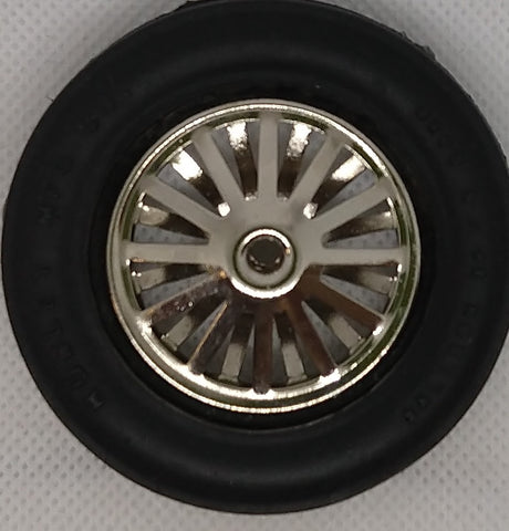 Hubley race car wheel with open spokes. 2-5/8""