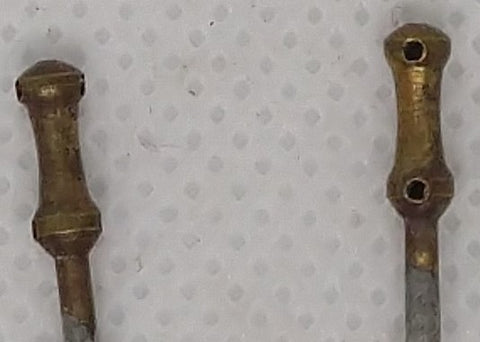 Boat stanchions : Brass, original condition. 5/8""