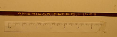 American Flyer Hiawatha Tender decal