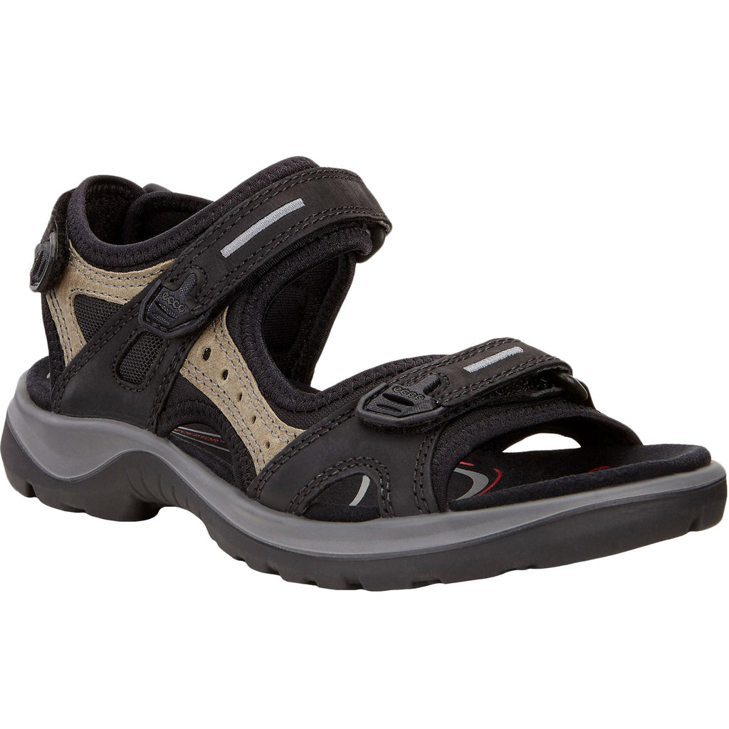 ECCO Womens Offroad Yucatan Hiking Sandals - Black