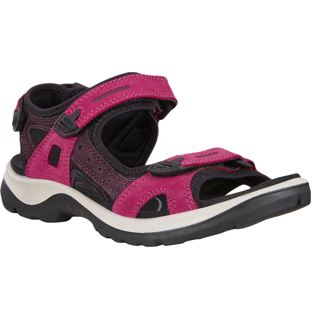 ECCO Womens Offroad Yucatan Hiking Sandals - Sangria
