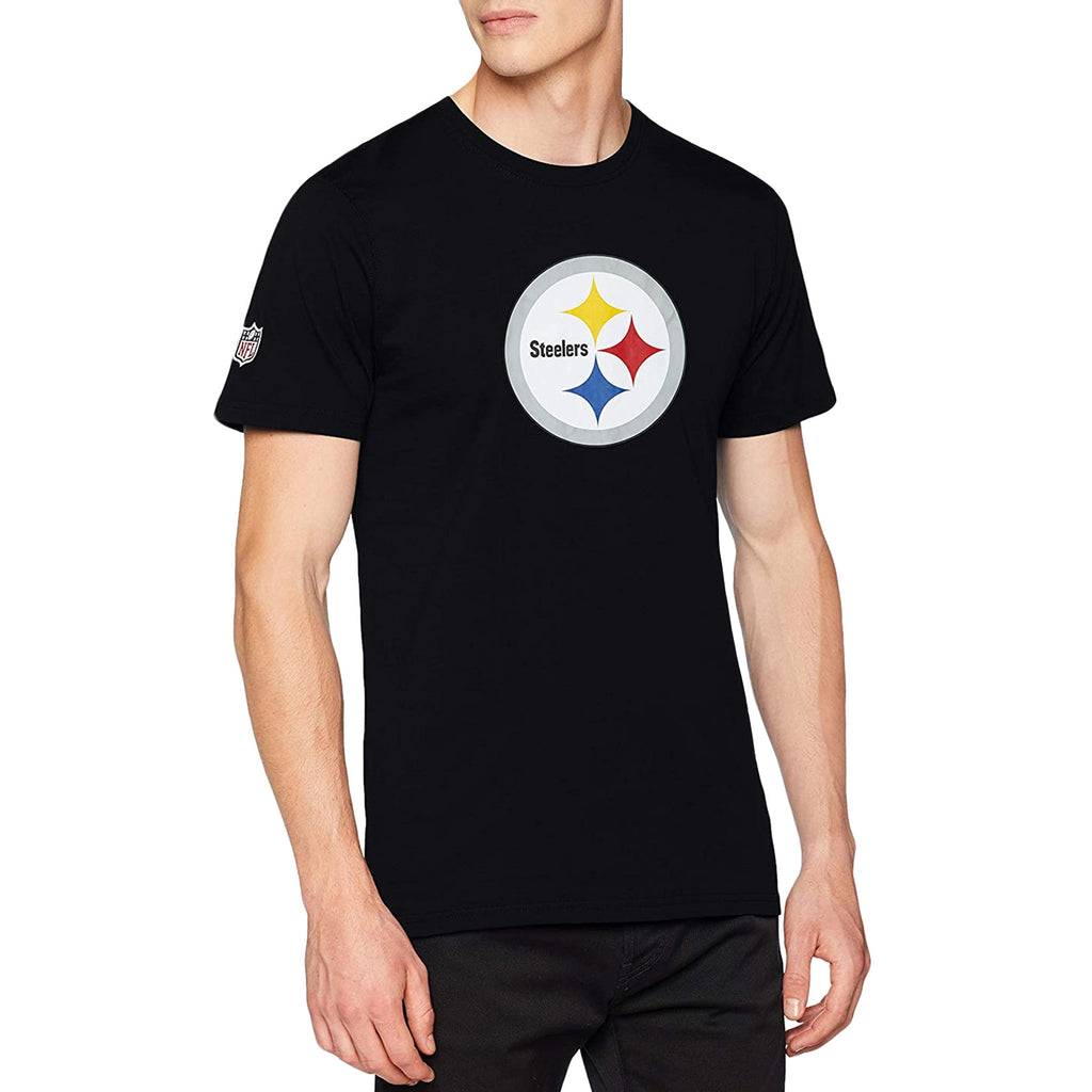 New Era Mens NFL Pittsburgh Steelers T-Shirt - Black