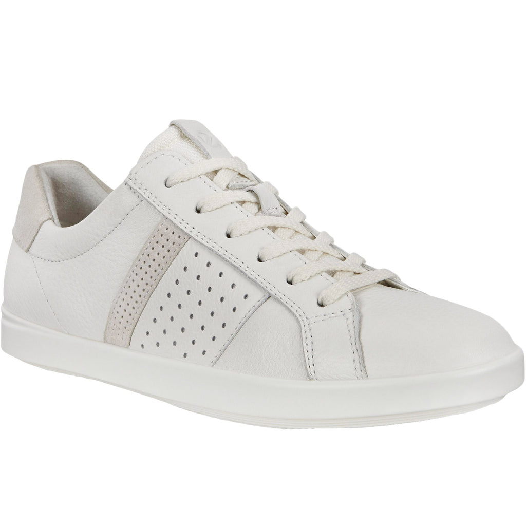 ECCO Womens Leisure Leather Trainers - White