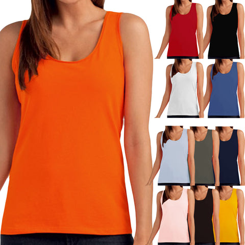 Hanes Tasty Womens Sleeveless Plain Tank Top