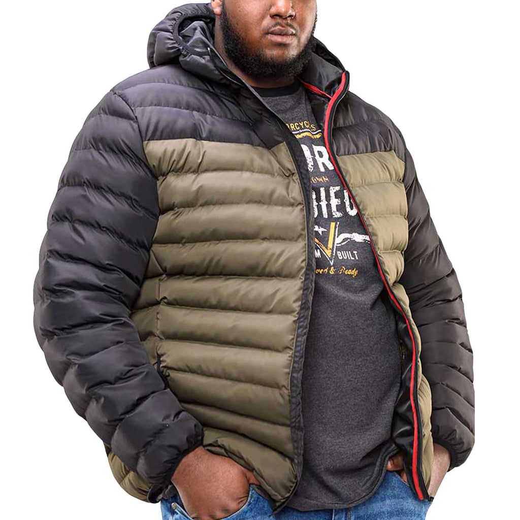 Duke D555 Mens Big Tall Hewlett Padded Jacket - Black
