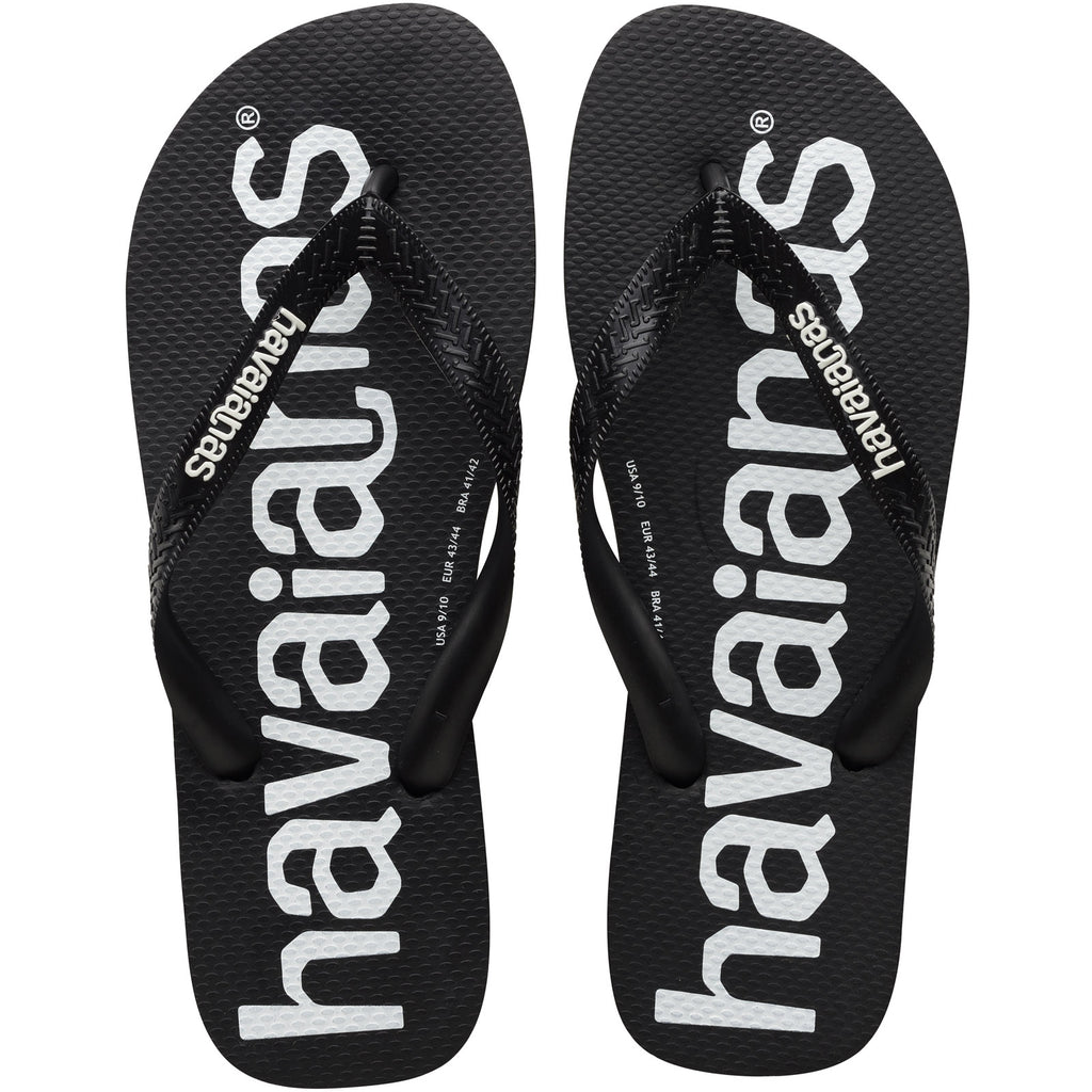Havaianas Top Logomania Mens Flip Flops - Black