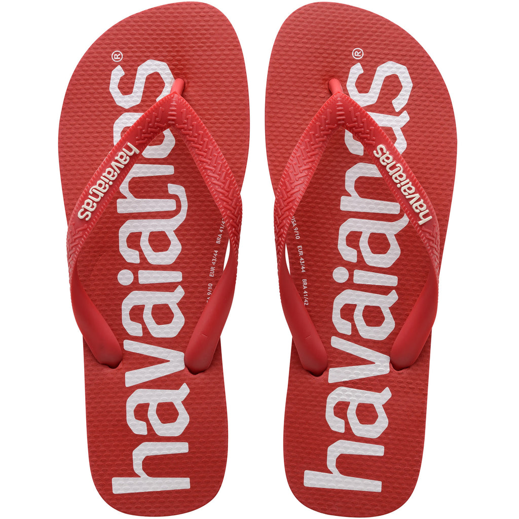 Havaianas Top Logomania Mens Flip Flops - Red