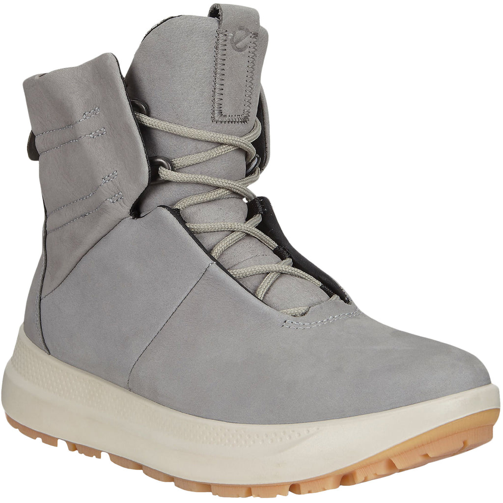 ECCO Womens Solice GTX Leather Snow Boots - Grey
