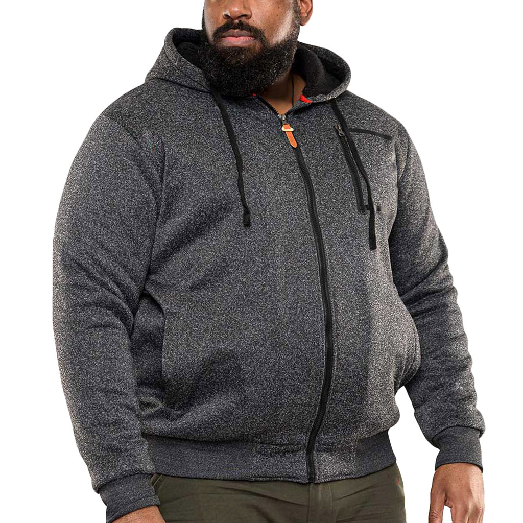 Duke D555 Mens Big Tall Lakewood Sherpa Lined Jacket - Grey