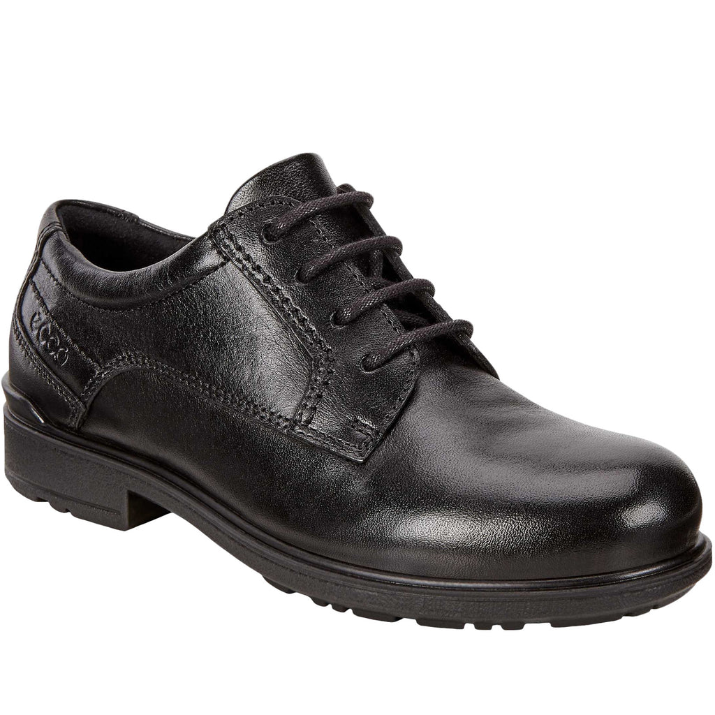 ECCO Boys Kids Cohen Leather Brogues - Black