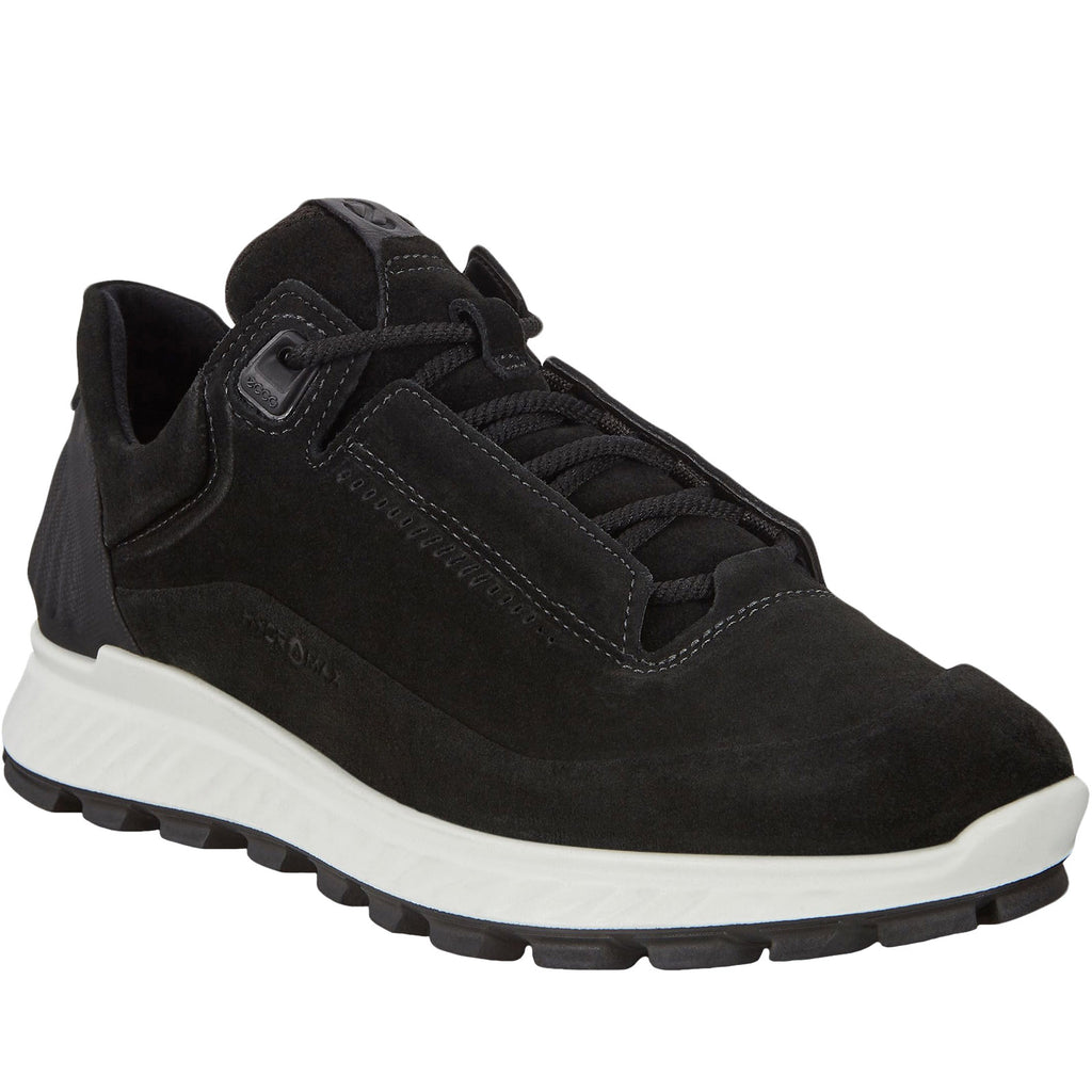 ECCO Womens Exostrike Suede Leather Trainers - Black