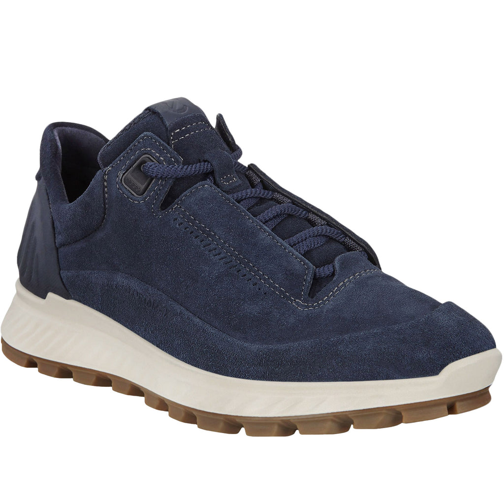 ECCO Womens Exostrike Suede Leather Trainers - Navy