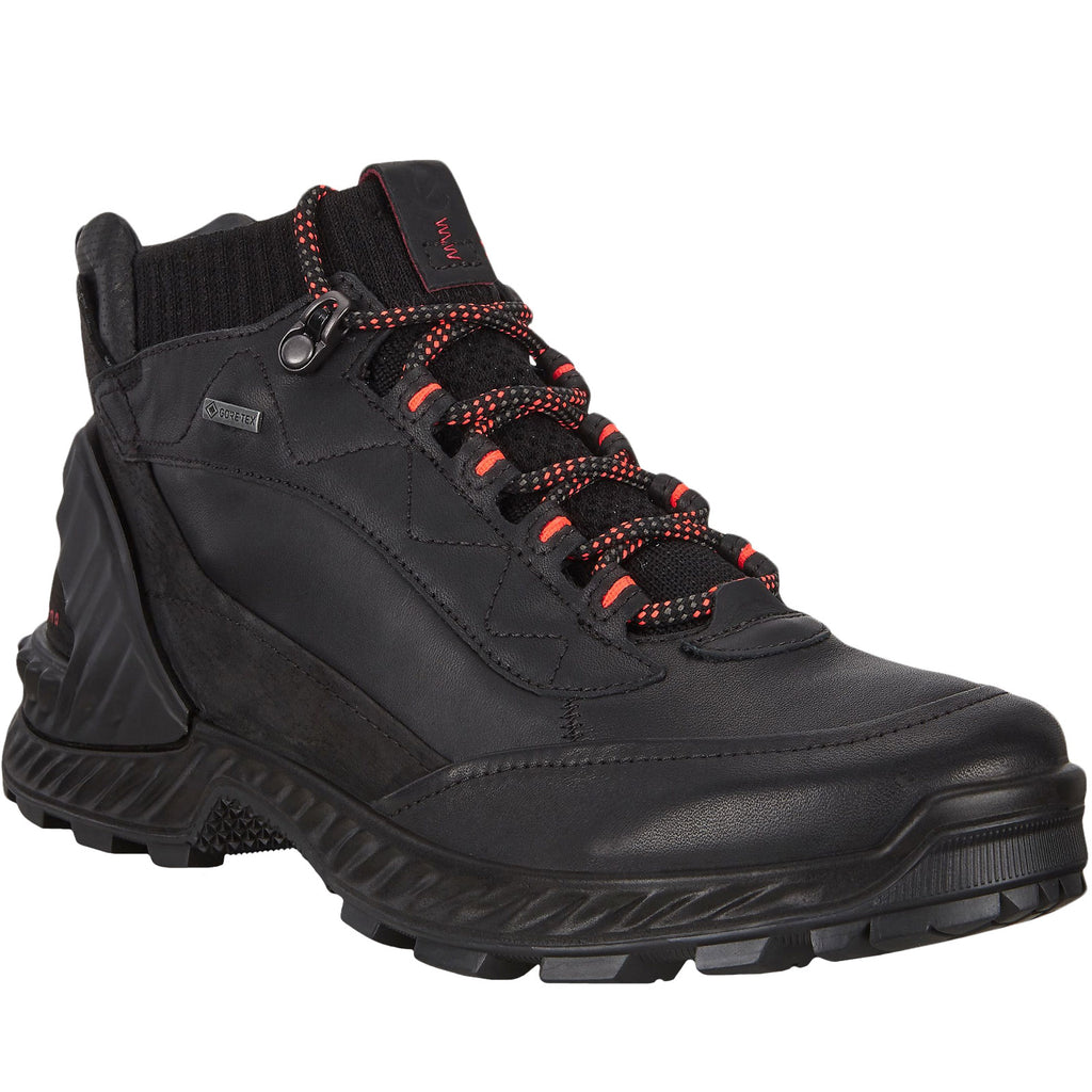 ECCO Womens Exohike GTX Gore-Tex Leather Boots - Black