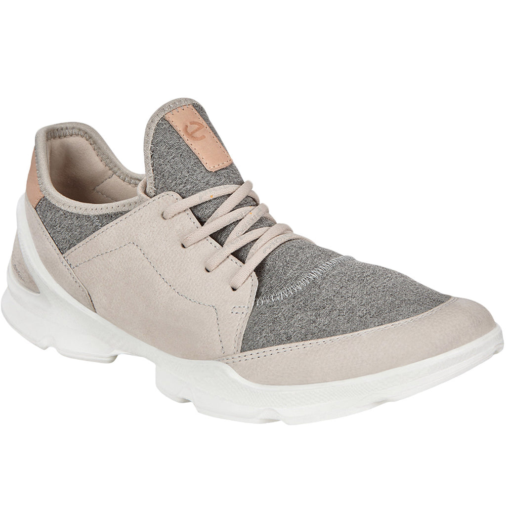 ECCO Womens Biom Street Leather Trainers - Grey