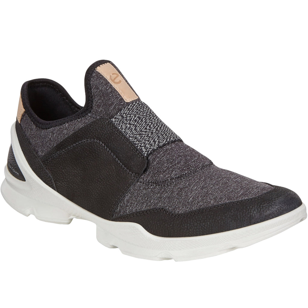 ECCO Womens Biom Street Leather Trainers - Black