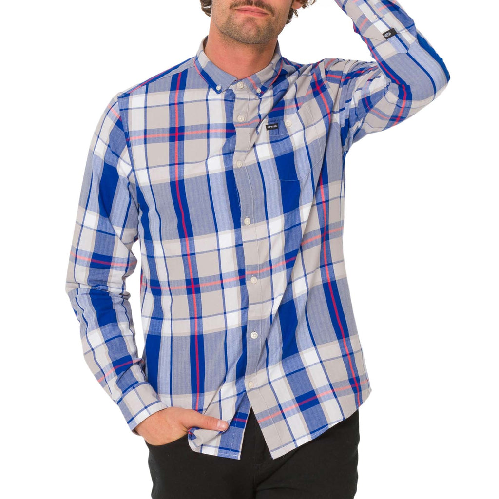 Animal Jones Long Sleeve Check Shirt - Cobalt Blue