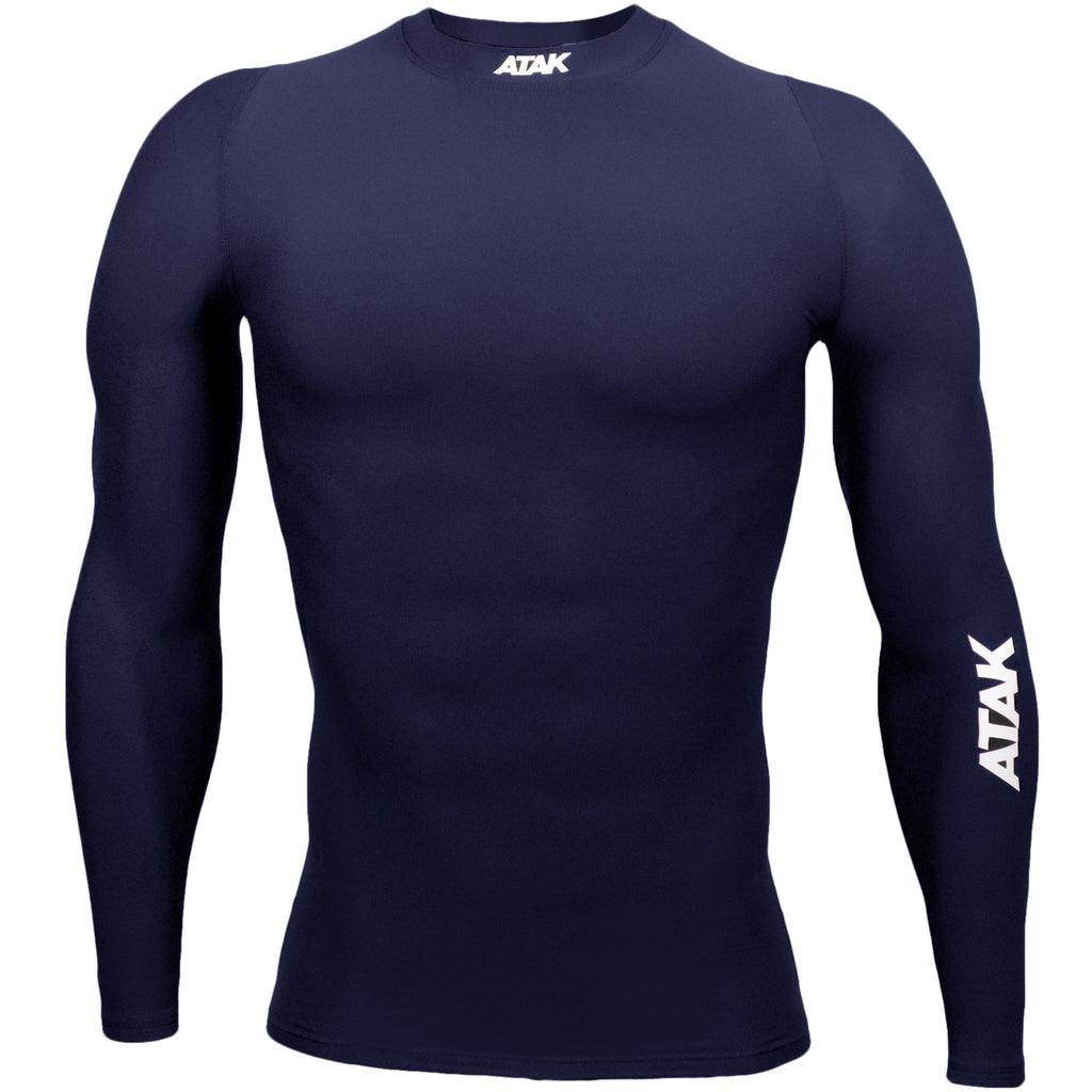 ATAK Youths Compression Top - Navy