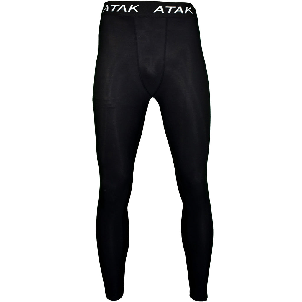 ATAK Mens Thermal Base Layer Compression Bottoms - Black