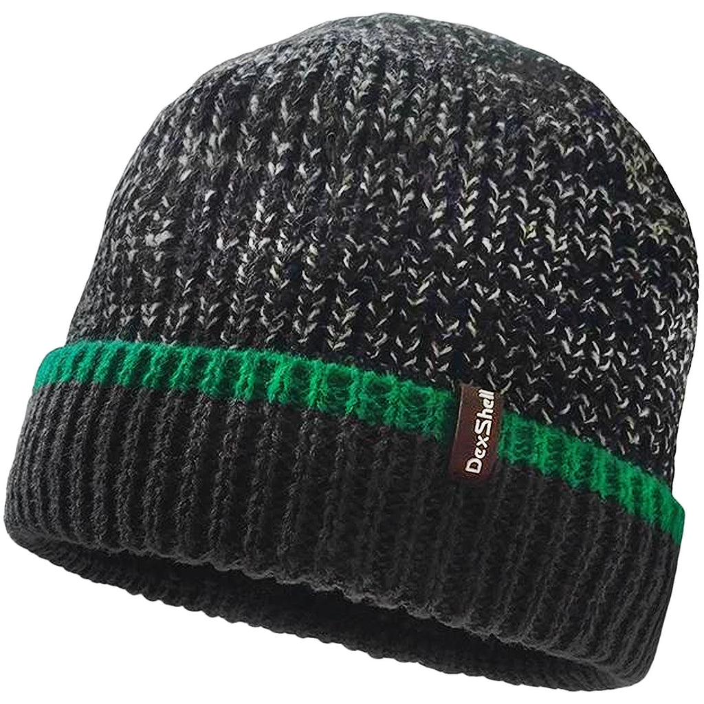 DexShell Cuffed Beanie Hat - Green Edge
