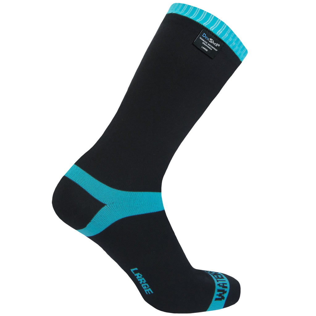 DexShell CoolVent Waterproof Socks - Black/Blue