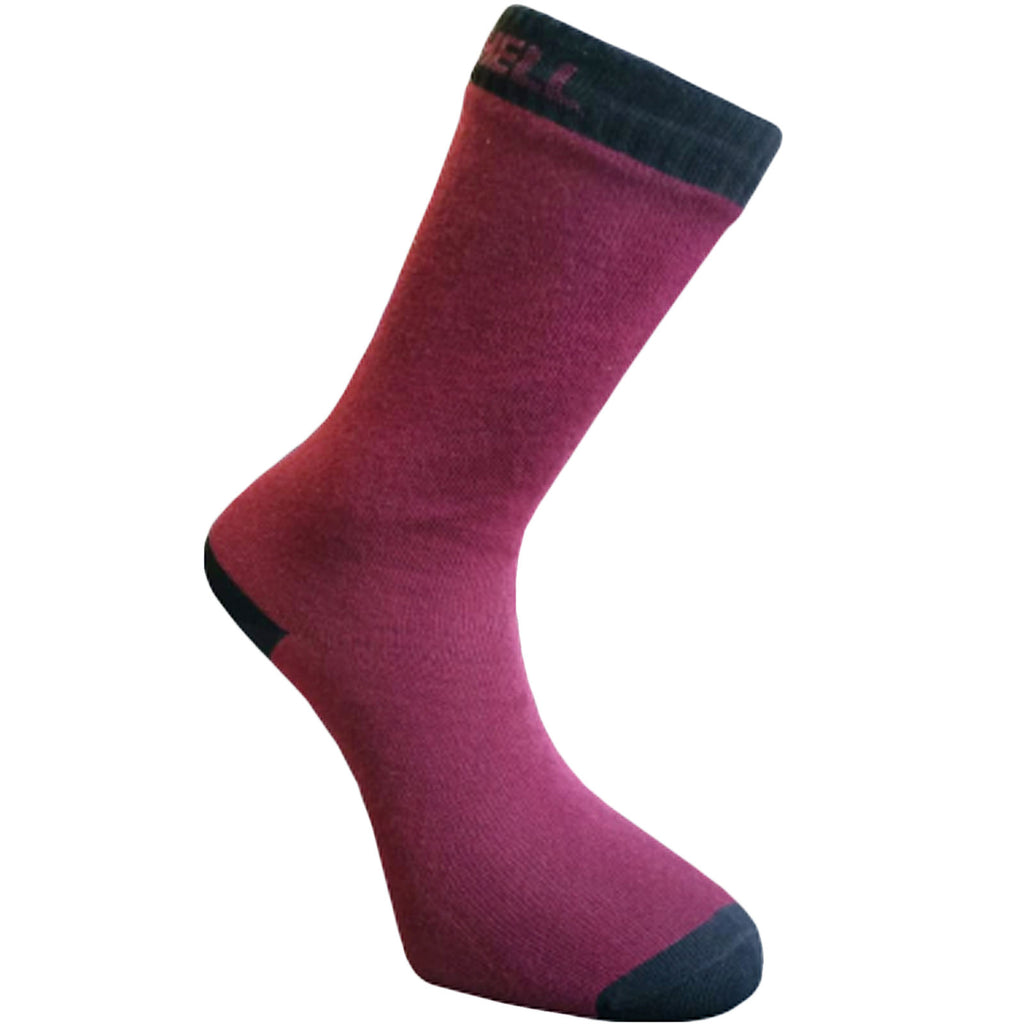 DexShell Ultra Thin Crew Socks - Burgundy/Black