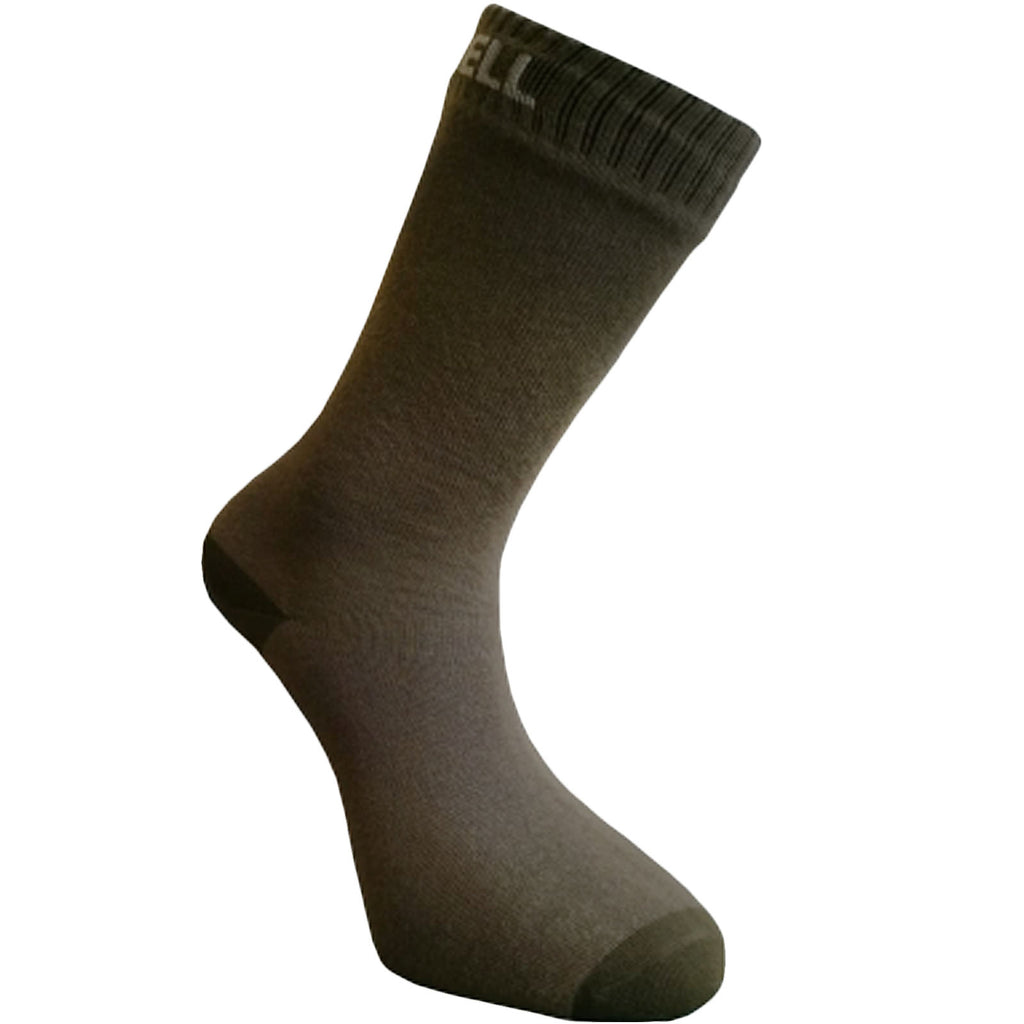 DexShell Ultra Thin Crew Socks - Olive Green