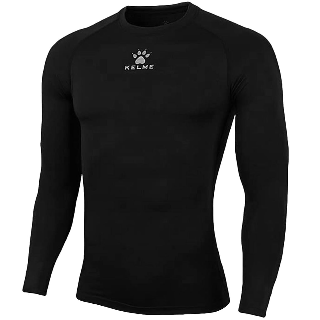 KELME Boys Thermical Football Tech Fit Baselayer Top - Black