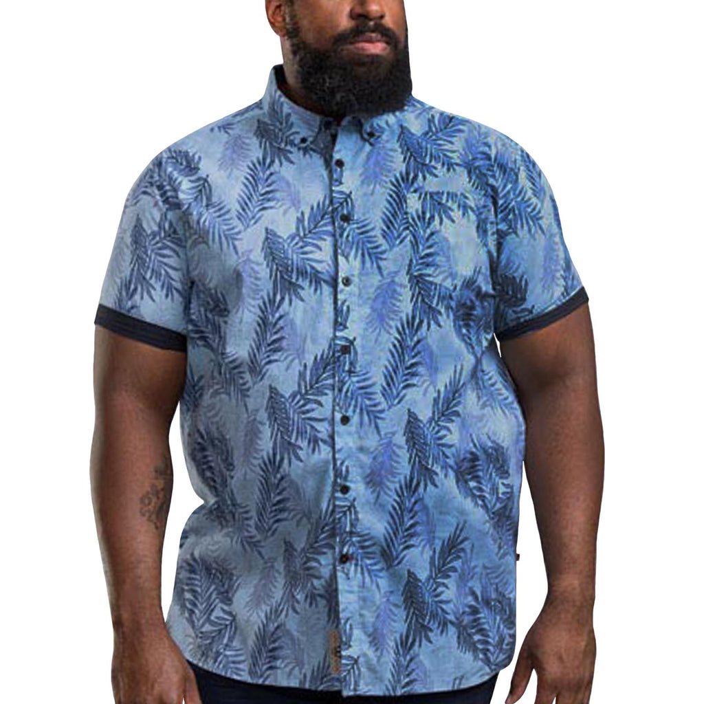 Duke D555 Santana Big Tall  Shirt - Sky Blue
