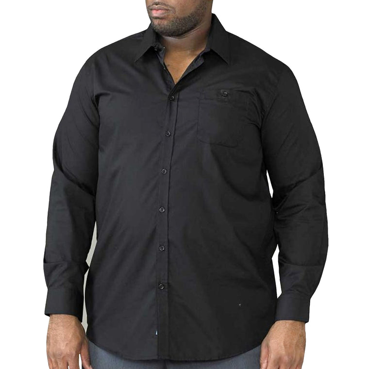 D555 Corbin King Size Long Sleeve Shirt - Black
