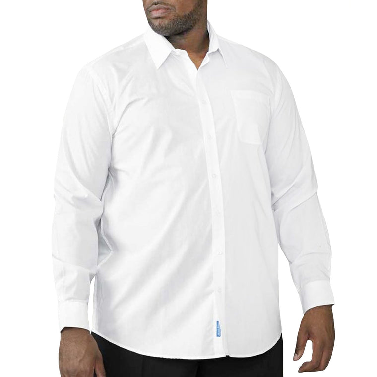 D555 Aiden King Size Shirt - White