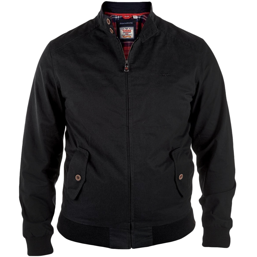 Duke D555 Windsor Big Tall Bomber Jacket - Black