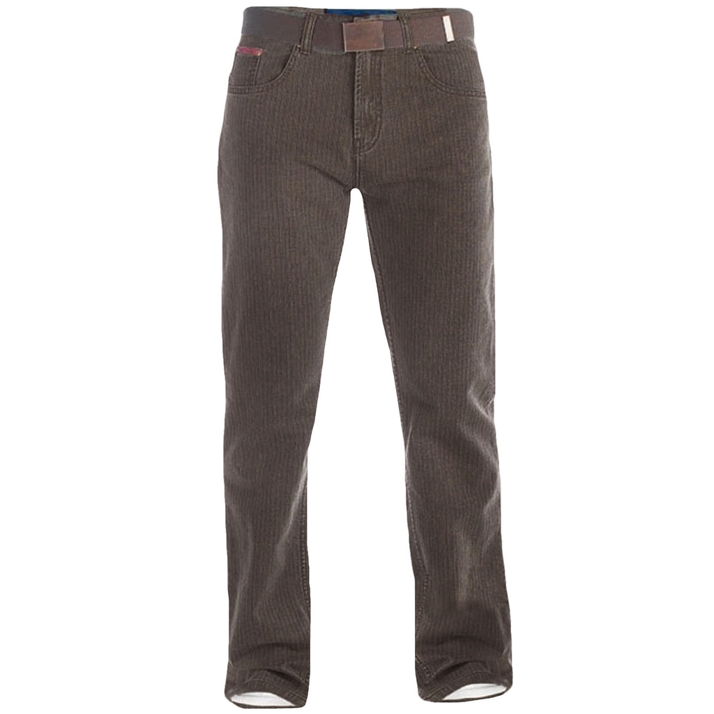 Duke London Brian King Size Cord Jeans - Brown