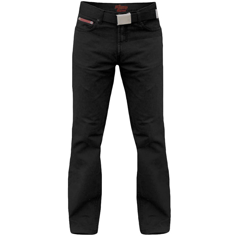 Duke London Mario King Size Cord Jeans With Belt - Black