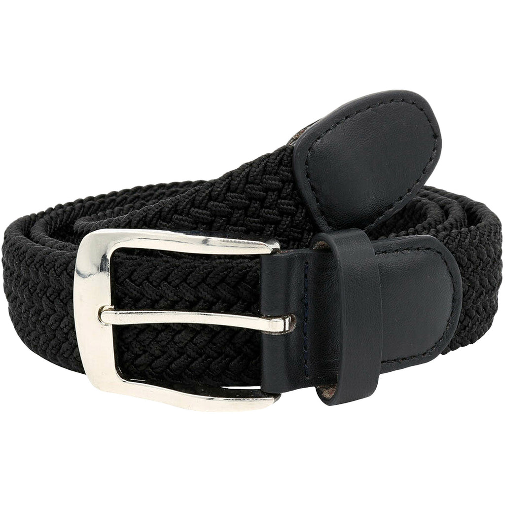 Duke D555 Simon Braided Belt - Black