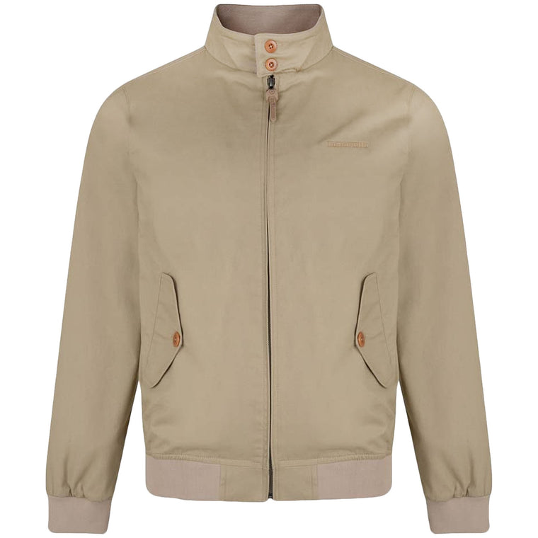 Lambretta Mens Harrington Bomber - Stone