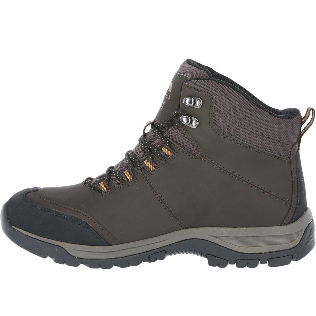 Trespass Mens Hiram Leather Waterproof Boots - Earth