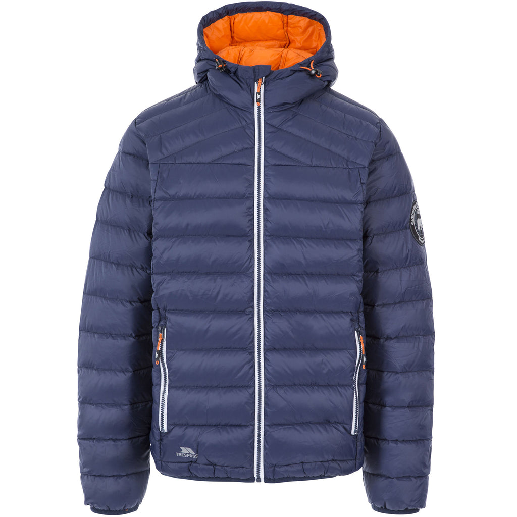 Trespass Mens Whitman II Down Packaway Jacket - Navy