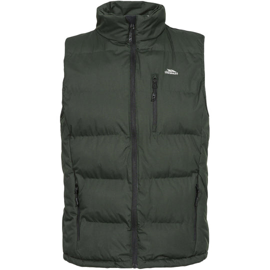 Trespass Mens Clasp Padded Body Warmer Gilet - Olive