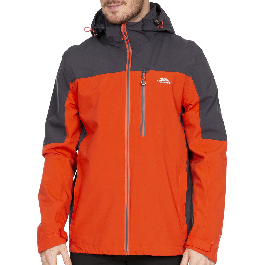 Trespass Mens Tapping Waterproof Jacket - Flame