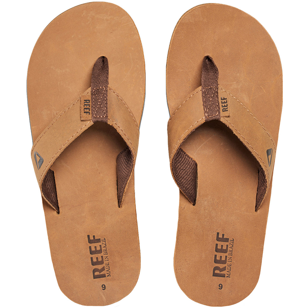 Reef Leather Smoothy Flip Flops - Bronze